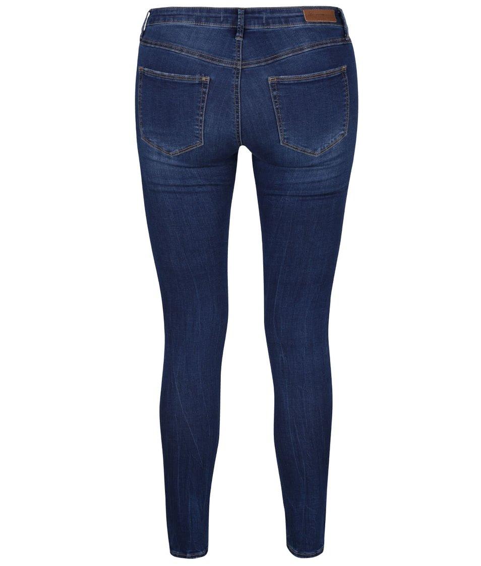 Modré skinny džíny s vyšisovaným efektem TALLY WEiJL