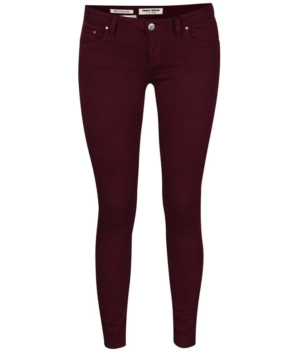 Vínové skinny džíny s nízkým pasem TALLY WEiJL