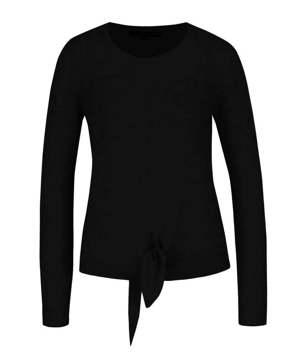Černý svetr na zavazování s dlouhým rukávem TALLY WEiJL