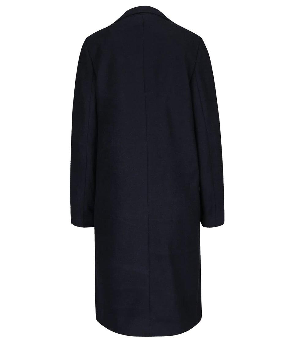 Tmavě modrý kabát s páskem a kapsami Dorothy Perkins