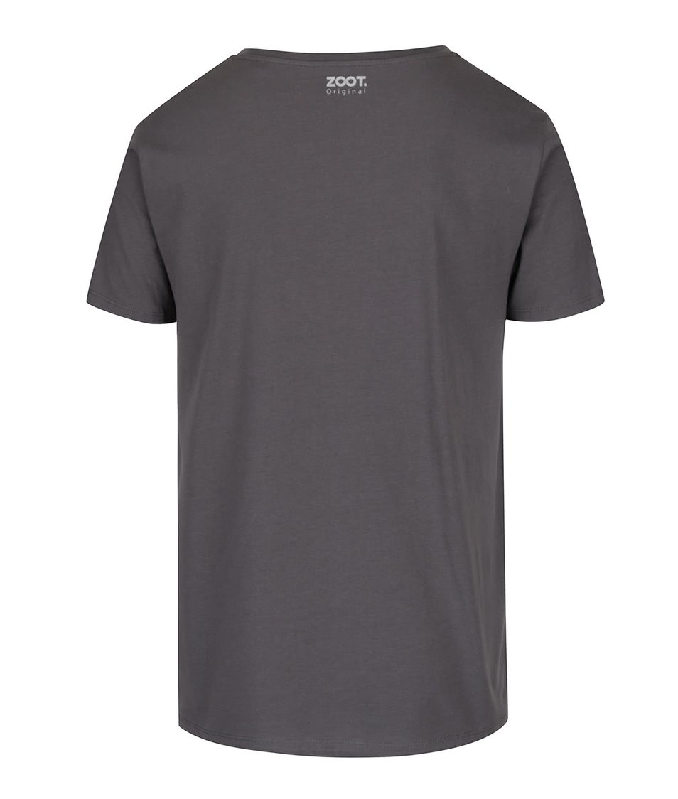 Tmavě šedé pánské triko ZOOT Originál Cézar