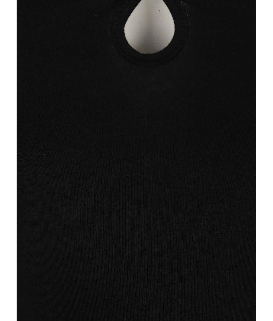 Černé tílko s pásky v dekoltu TALLY WEiJL
