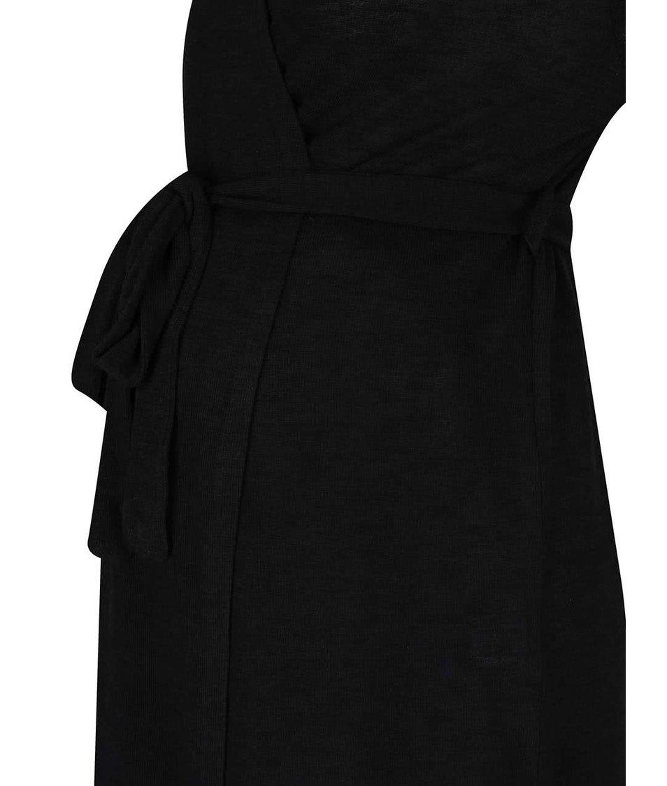Černý těhotenský cardigan se zavazováním Dorothy Perkins Maternity
