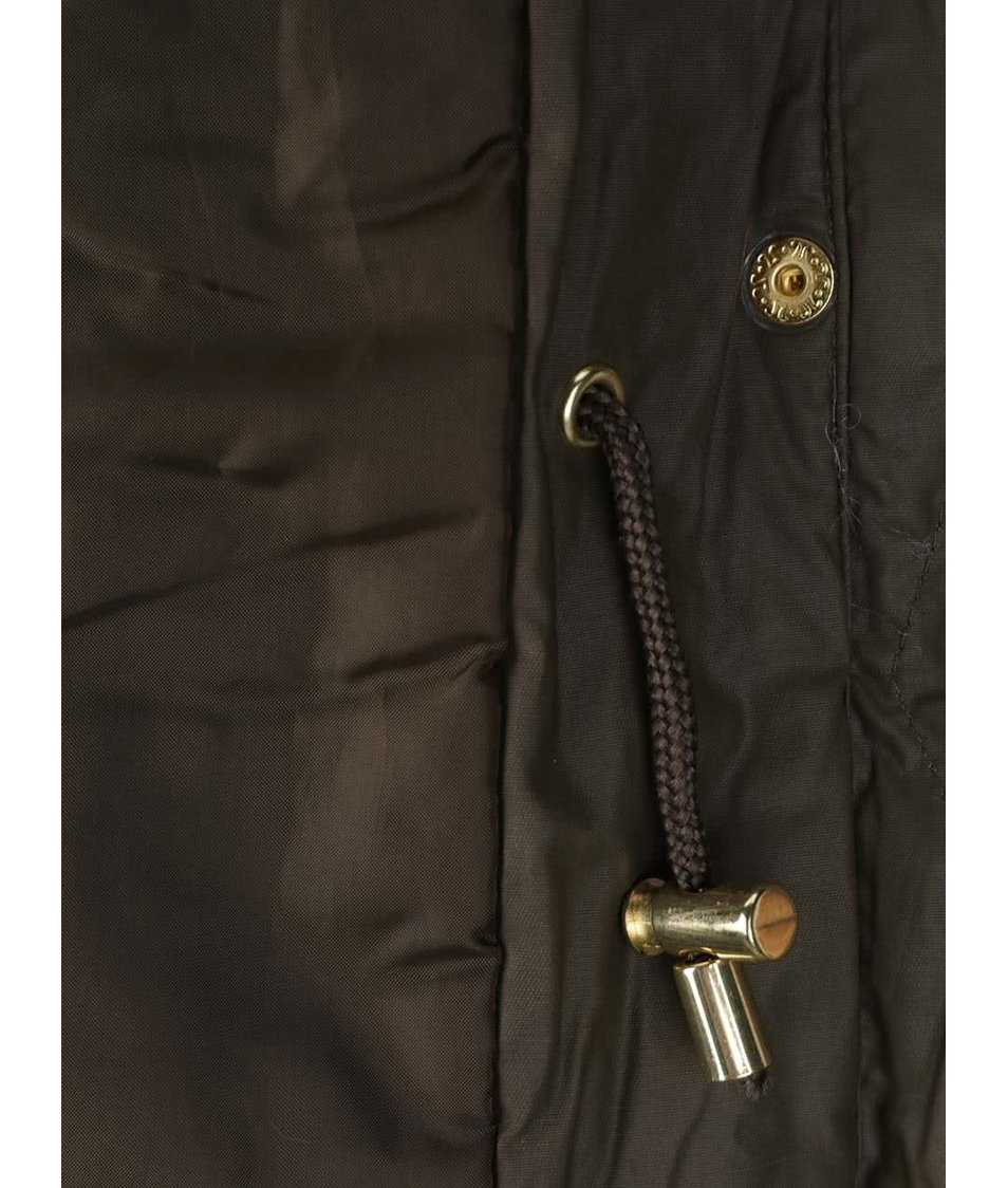 Khaki vesta s umělým kožíškem Dorothy Perkins