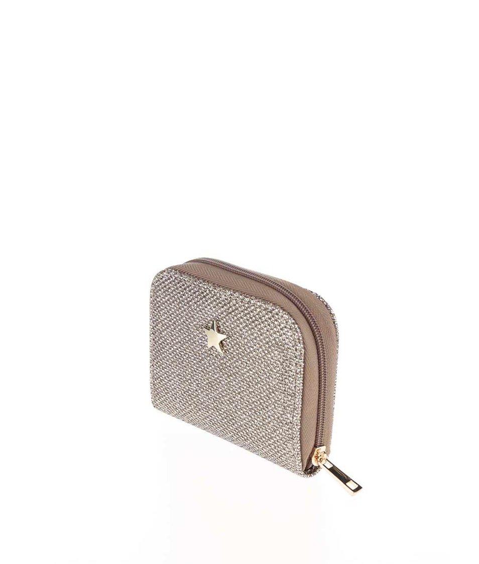 Třpytivá peněženka ve zlaté barvě Dorothy Perkins