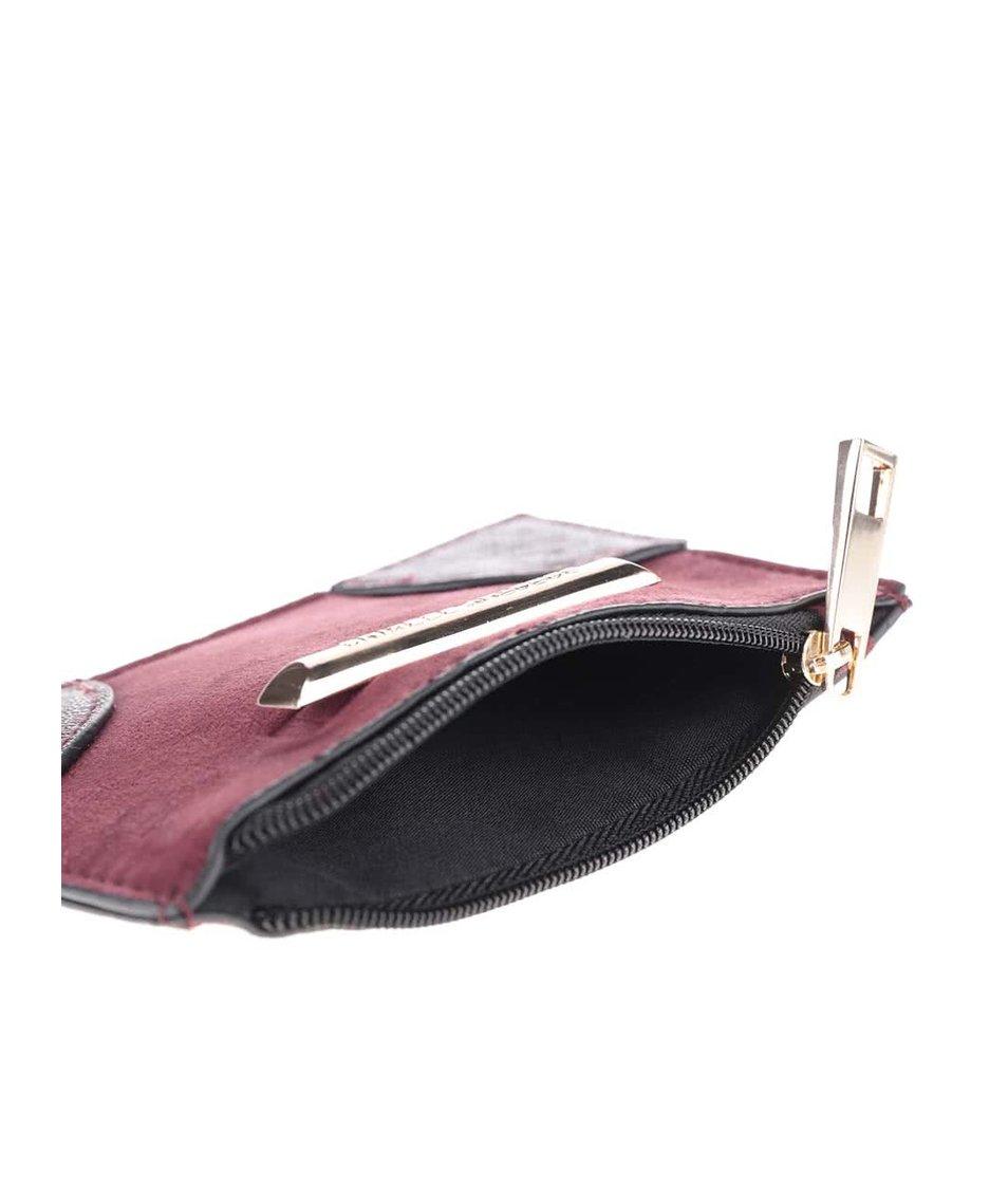 Vínová peněženka na zip v semišové úpravě Dorothy Perkins