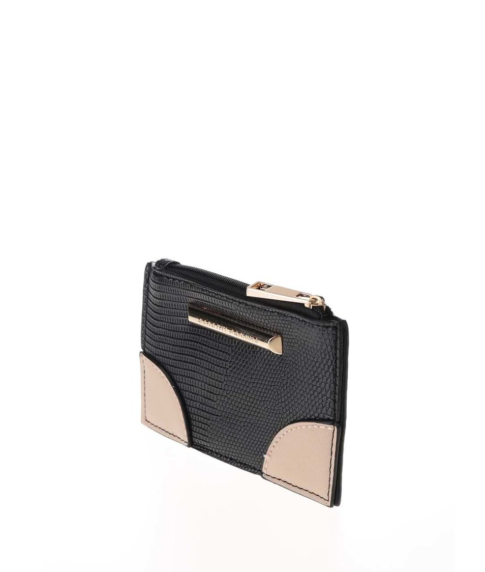 Černá peněženka na zip se vzorem Dorothy Perkins