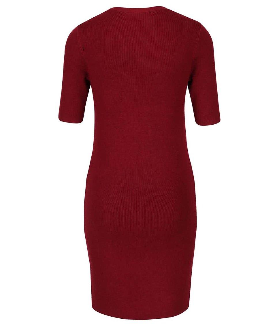Vínové šaty se zipy Dorothy Perkins