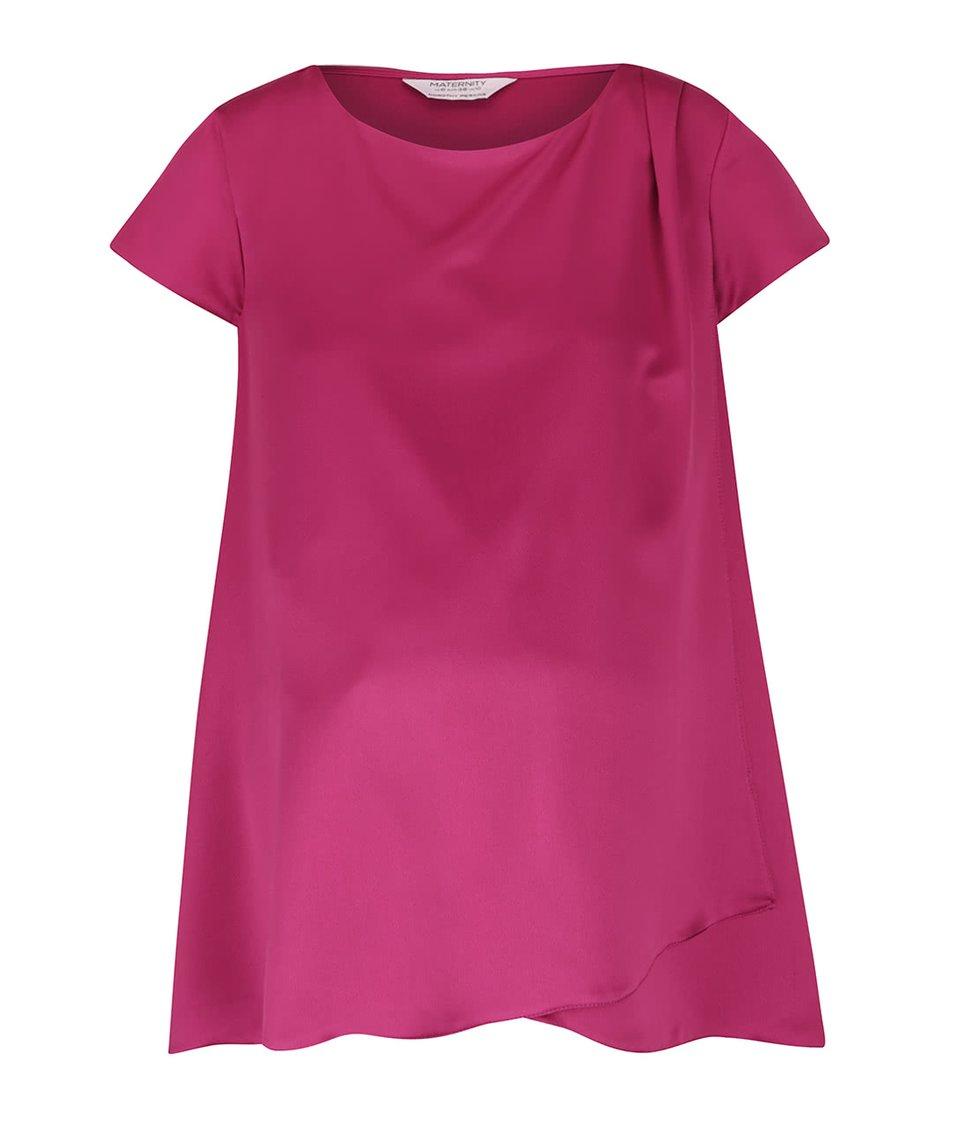 Ružový tehotenský top s prekladanou prednou časťou Dorothy Perkins Maternity