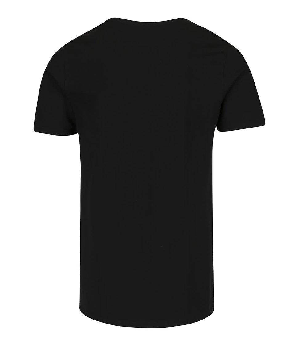 Černé triko s potiskem Jack & Jones Buh
