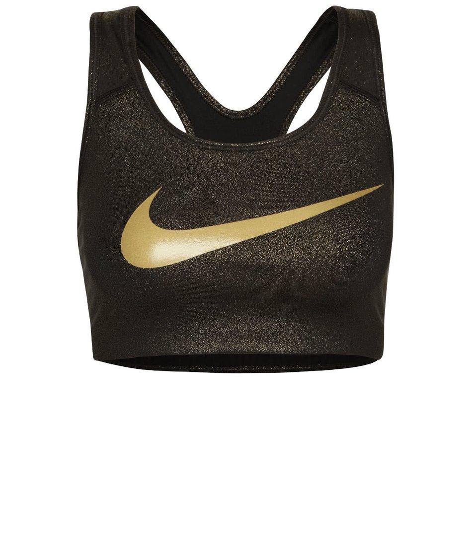 Zlato-černá sportovní podprsenka Nike Pro Classic