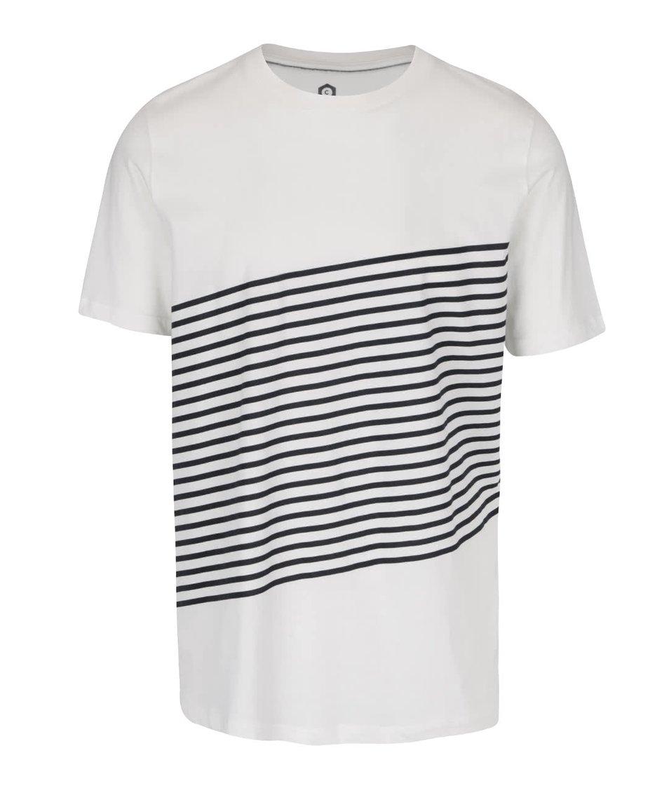 Krémové triko s pruhy Jack & Jones Warp