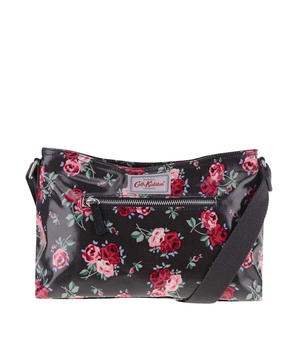 Černá květovaná crossbody kabelka Cath Kidston