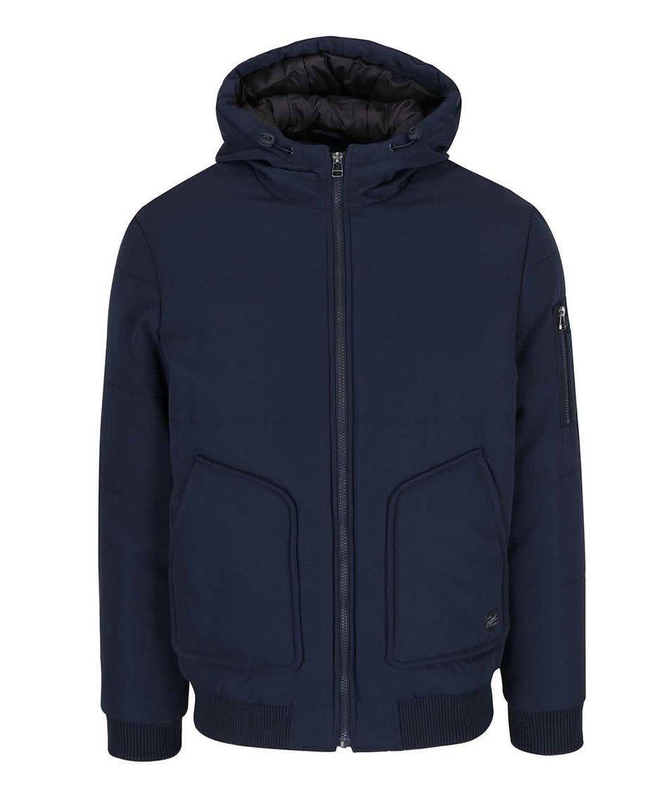 Tmavě modrá bunda s kapucí Jack & Jones Zapp