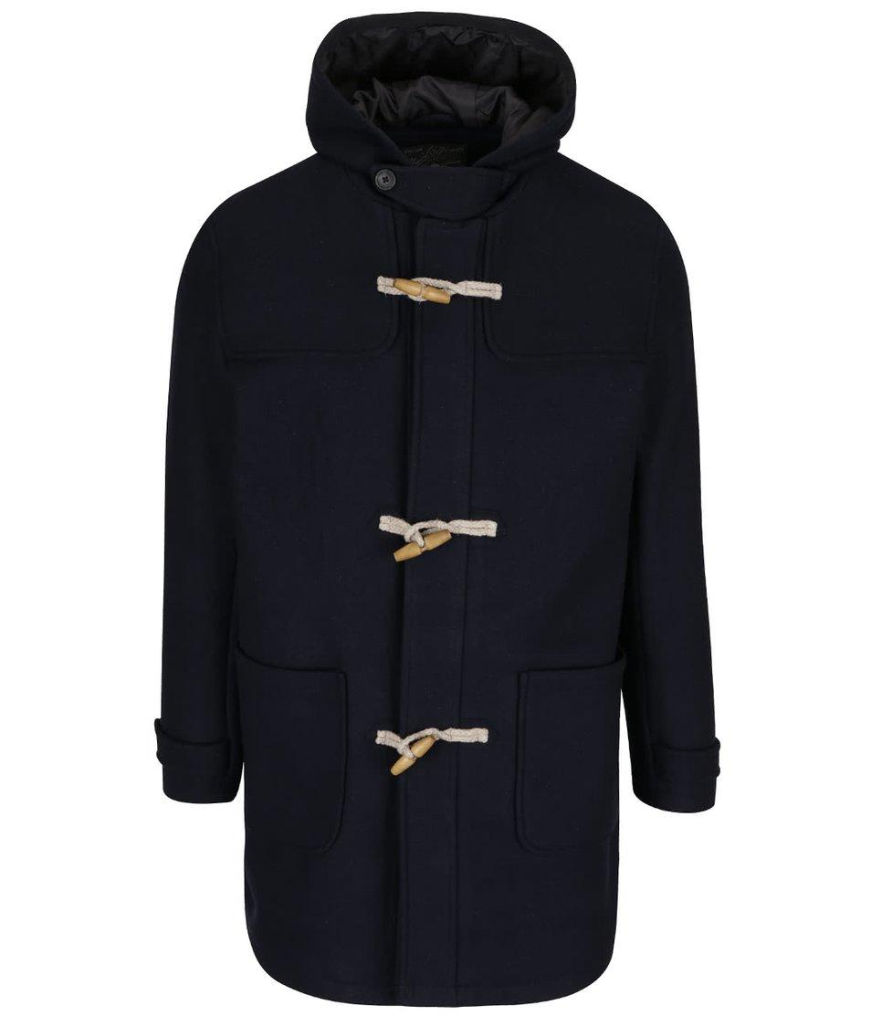 Tmavě modrý vlněný dlouhý kabát Jack & Jones Danny