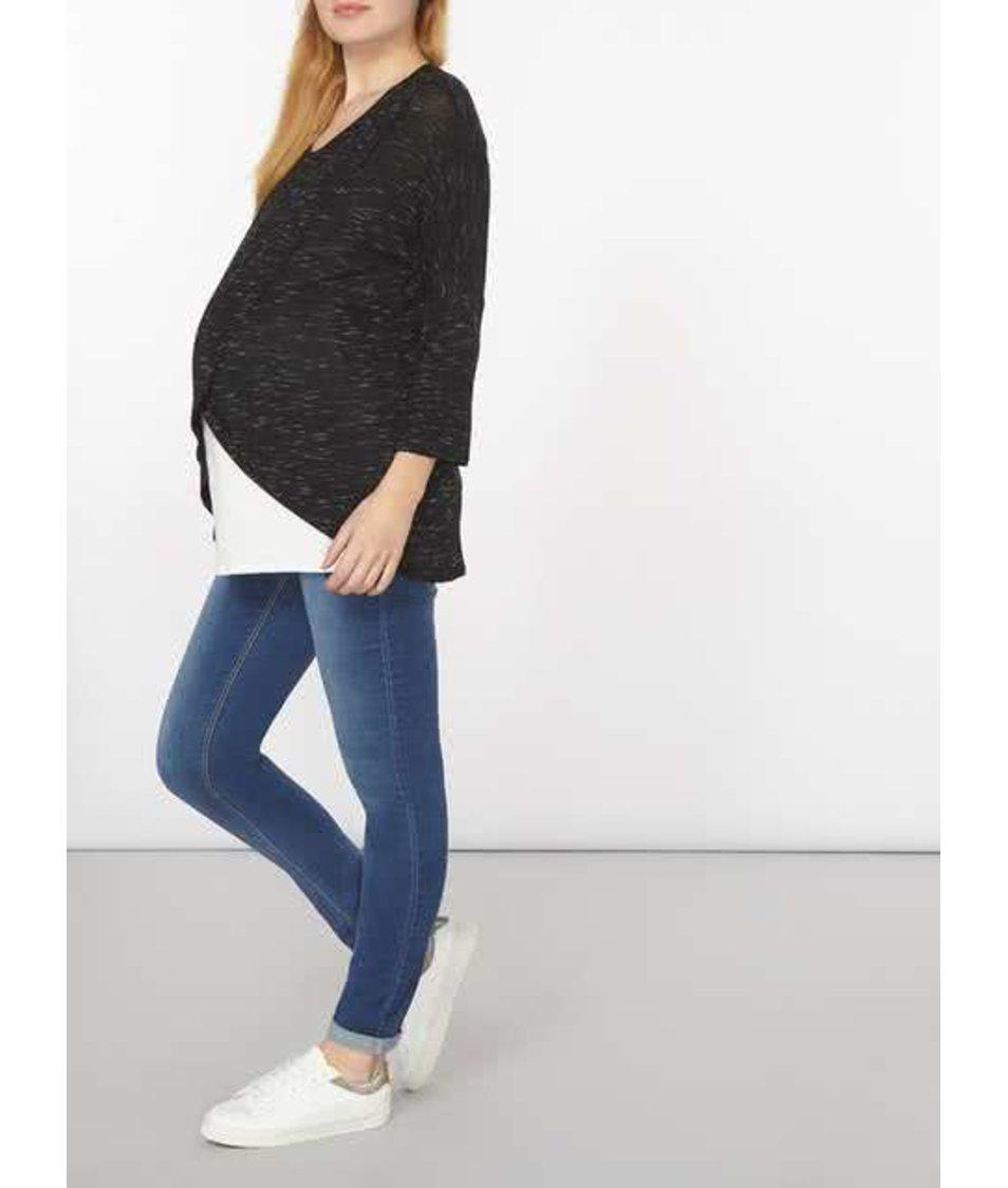 Černo-bílý těhotenský/kojící žíhaný top Dorothy Perkins Maternity