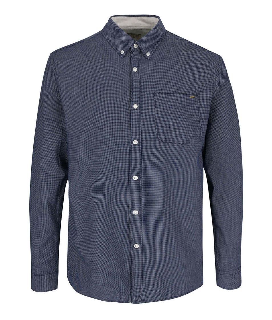 Tmavě modrá slim košile s jemným vzorem Jack & Jones Vans