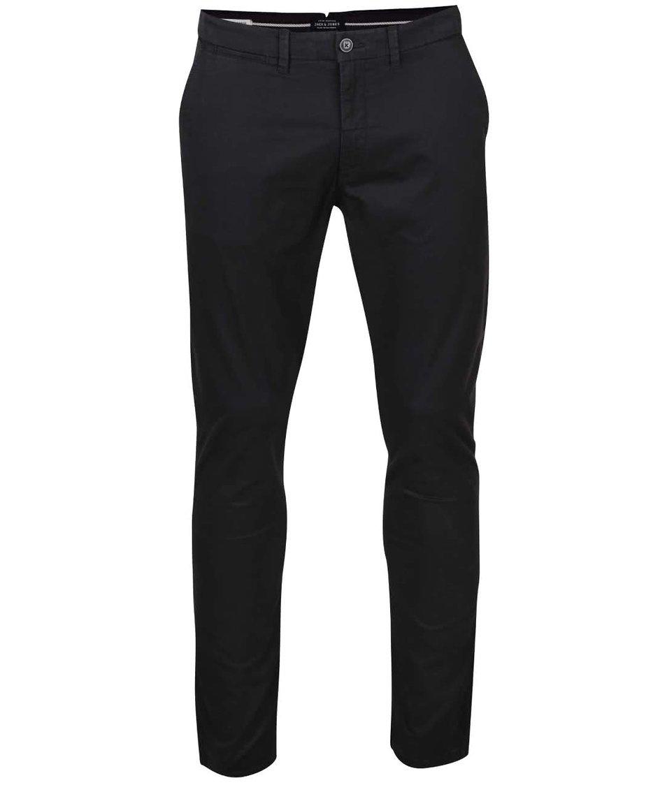 Černé volnější chino kalhoty Jack & Jones Marco