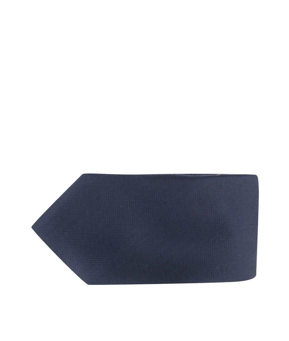 Tmavě modrá hedvábná kravata Jack & Jones