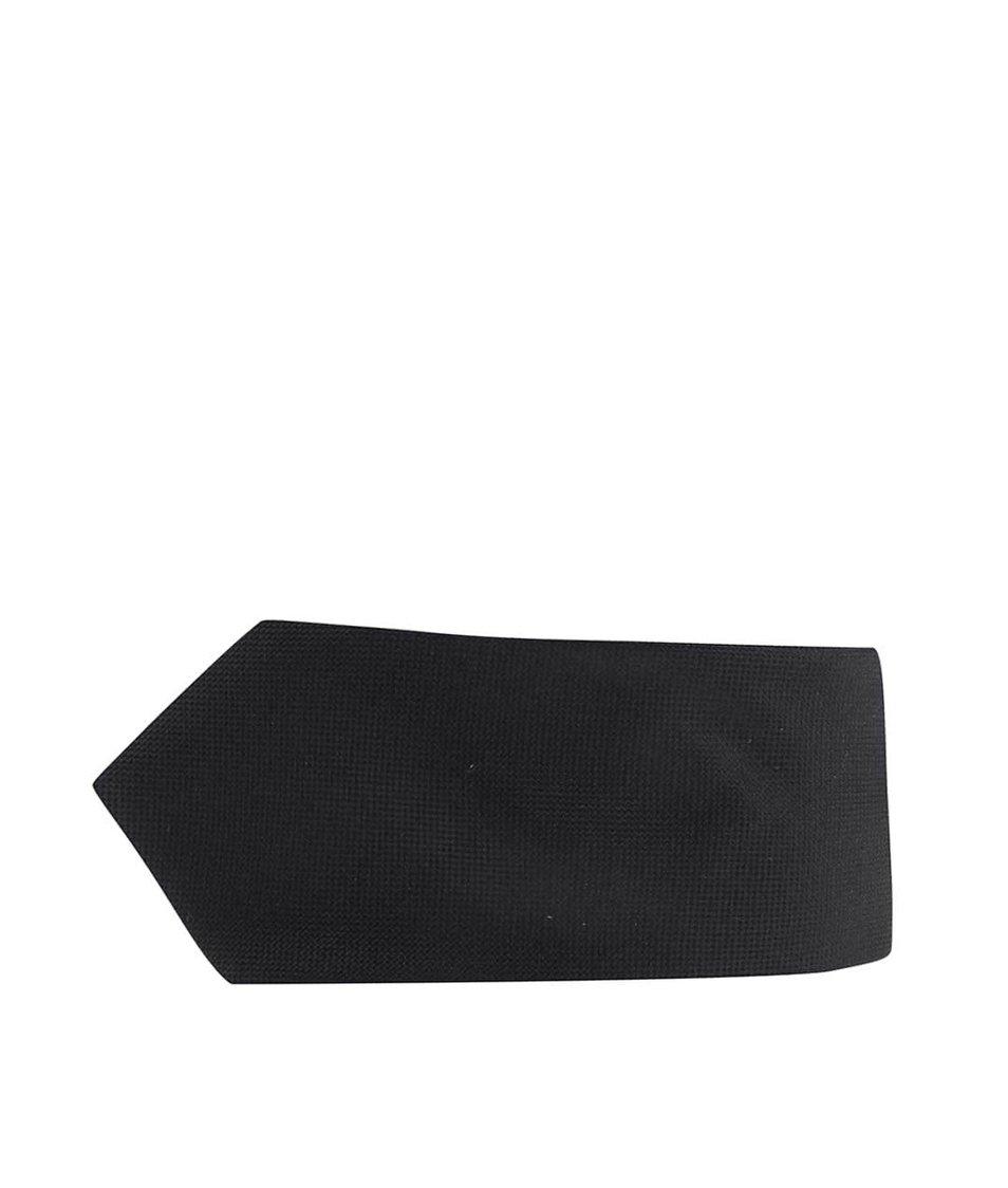 Černá hedvábná kravata Jack & Jones
