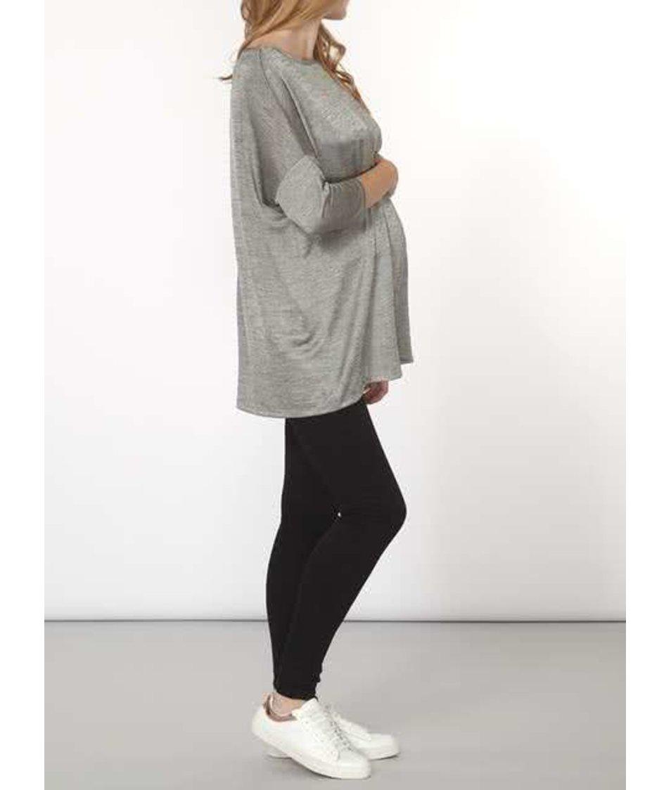 Šedý žíhaný těhotenský oversized top Dorothy Perkins Maternity