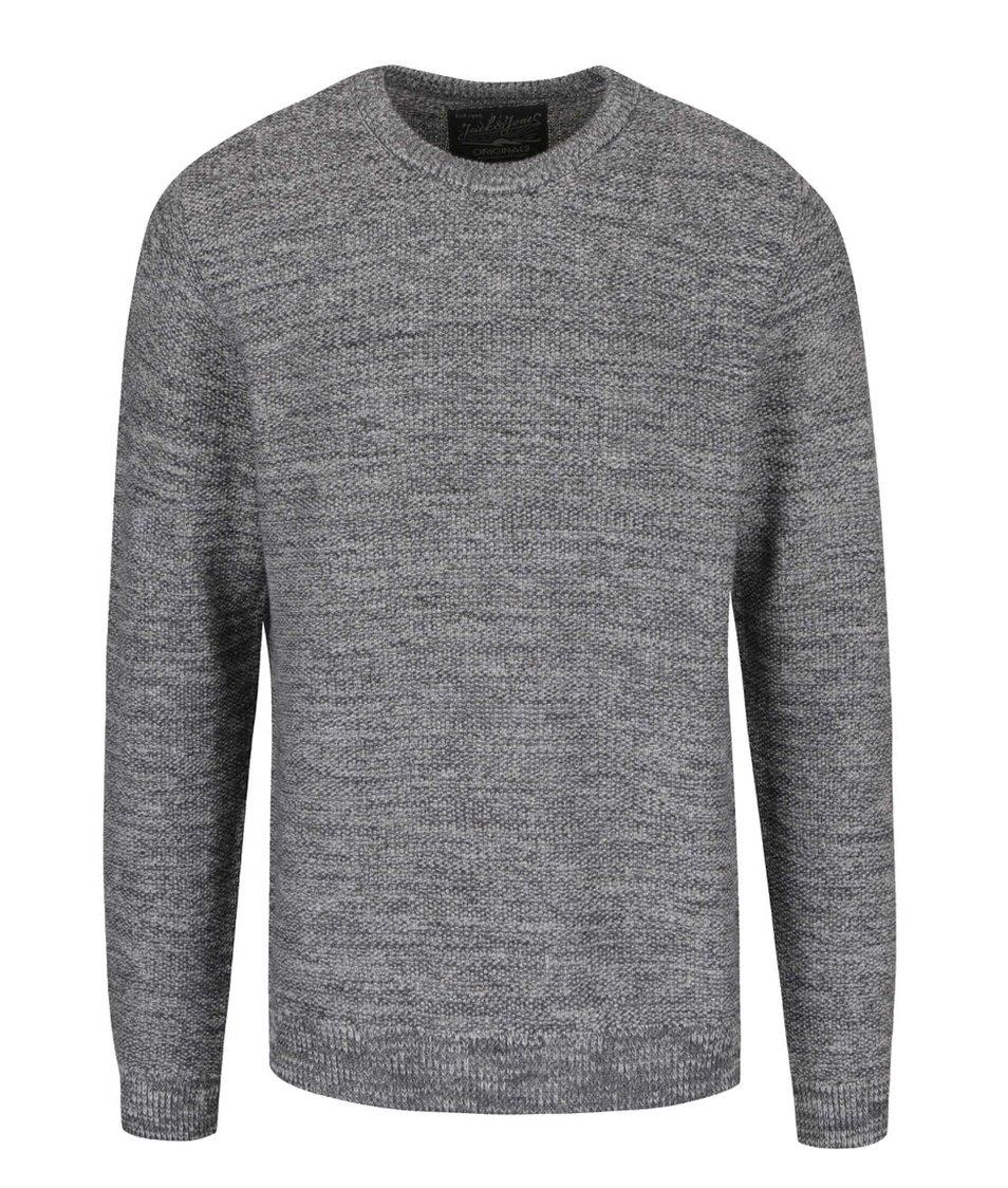 Světle šedý žíhaný svetr Jack & Jones Seatlle