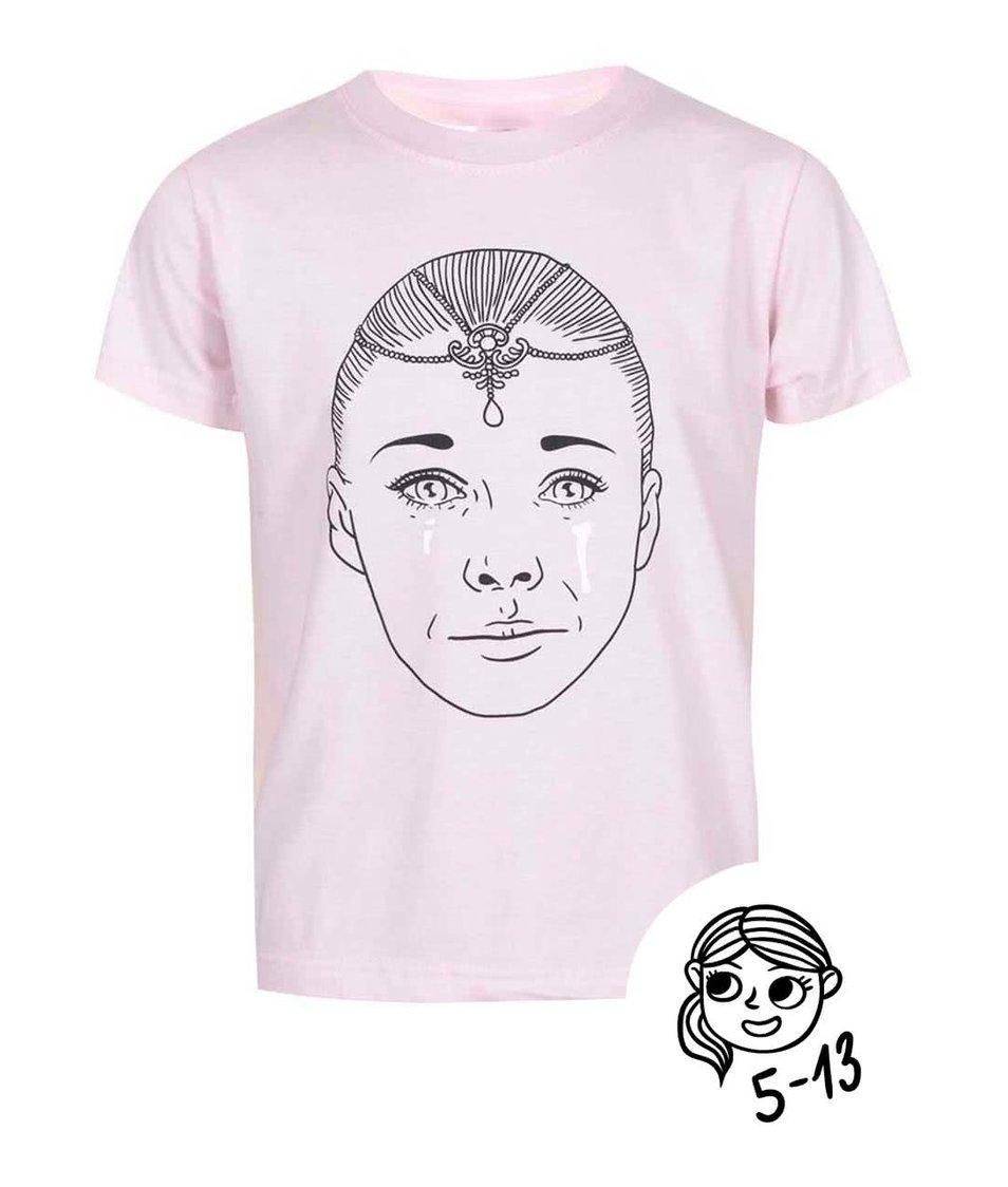 Růžové holčičí tričko s potiskem ZOOT Kids Císařovna