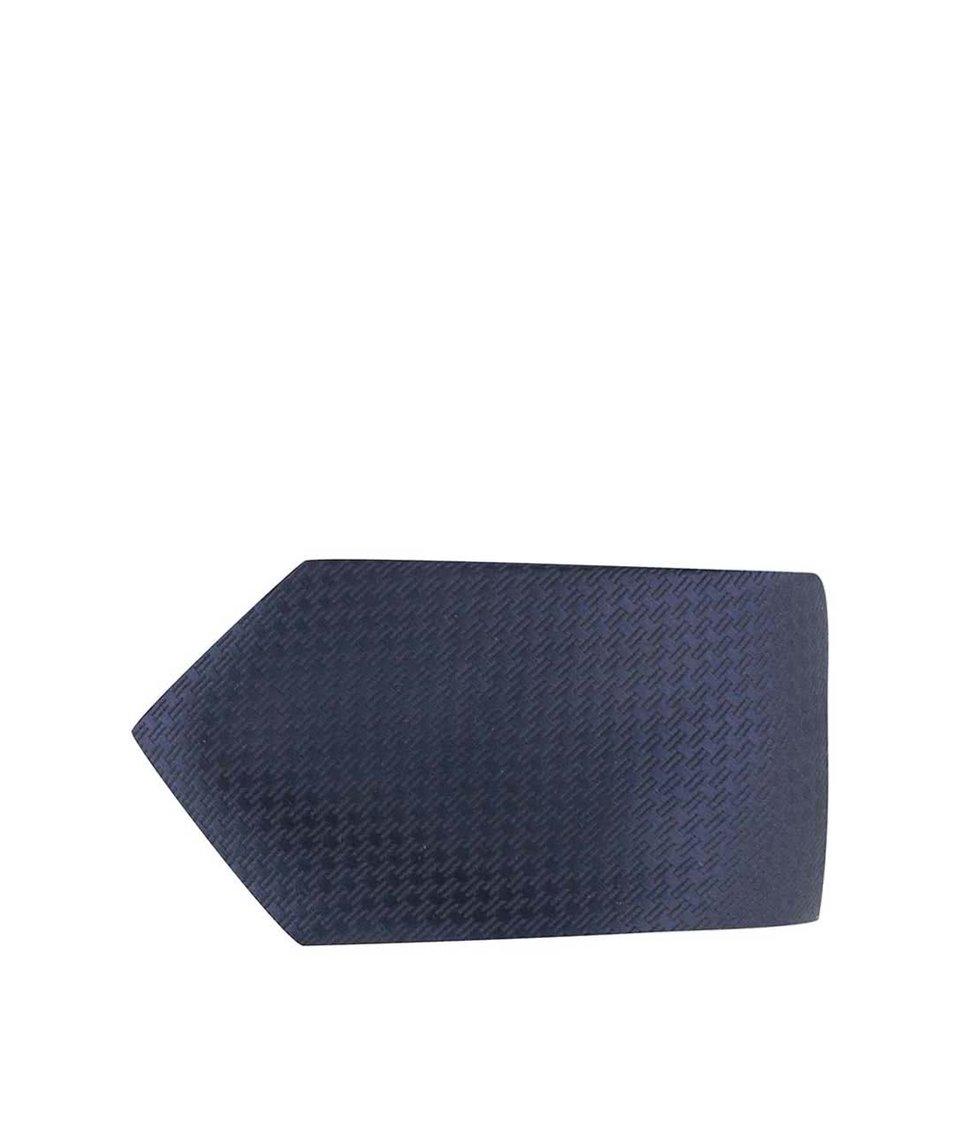 Tmavě modrá kravata s jemným vzorem Jack & Jones Premium Toronto