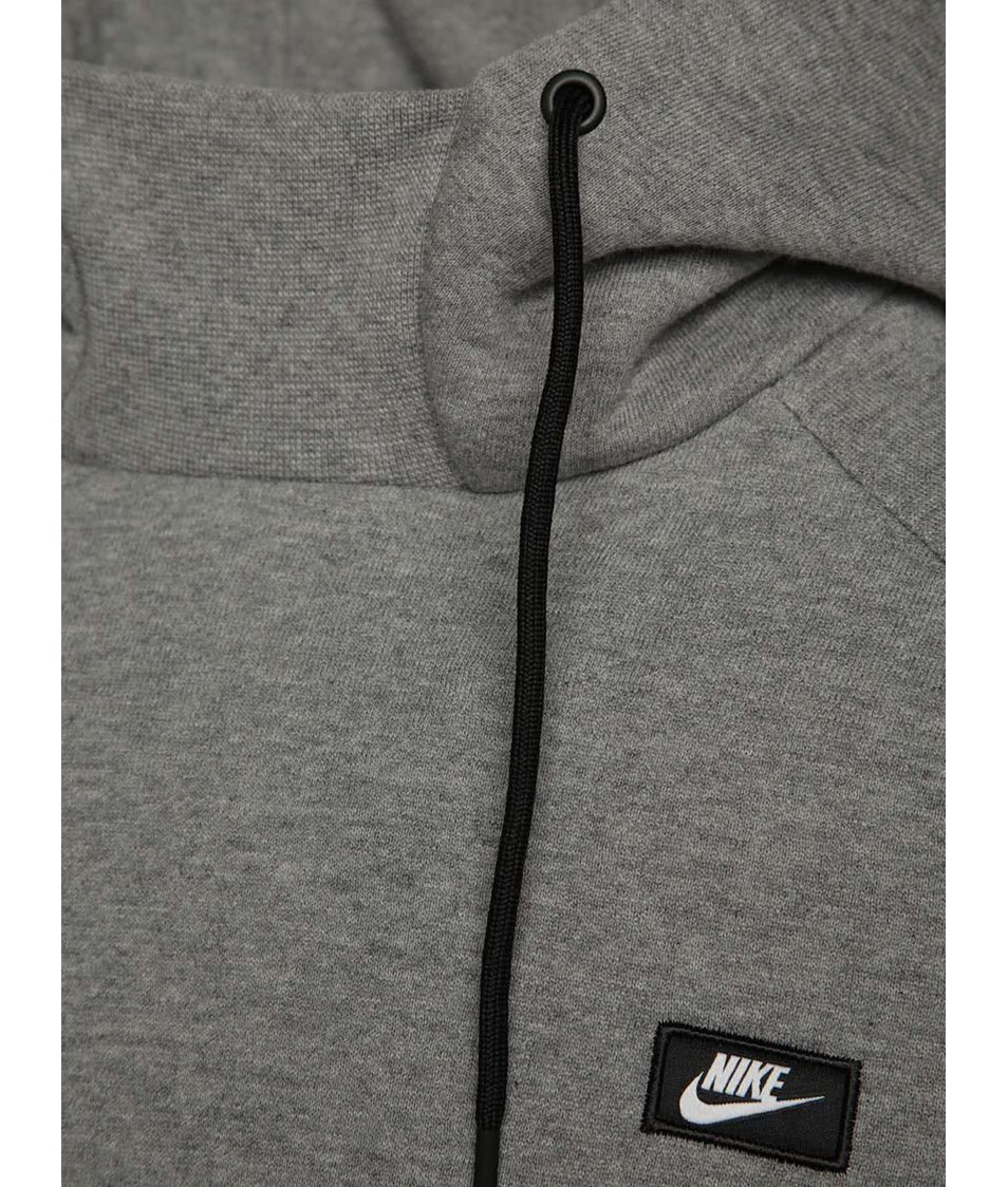 Šedá pánská mikina s kapucí Nike Modern