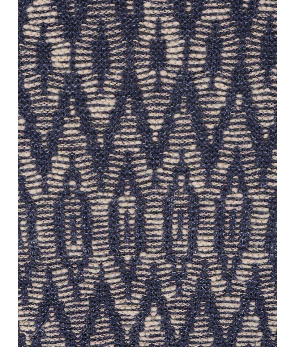 Krémovo-modrý vzorovaný svetr Jack & Jones Fu Blue