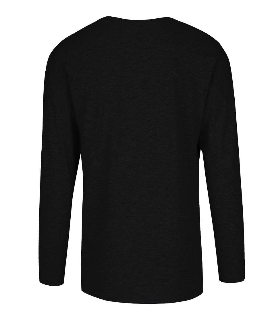 Černé triko s dlouhým rukávem ONLY & SONS Timothy