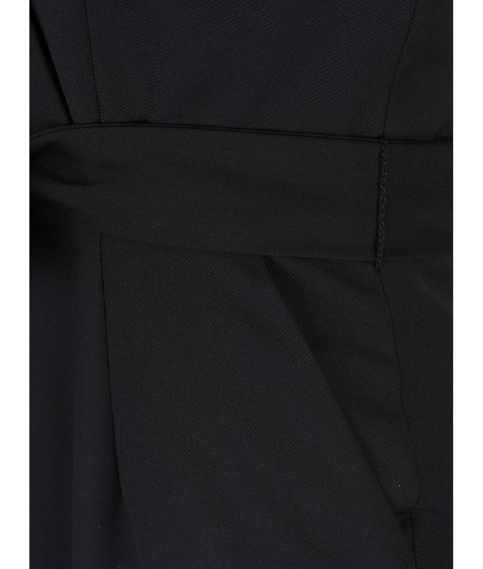 Černé šaty s překládaným výstřihem a odhalenými zády Pietro Filipi