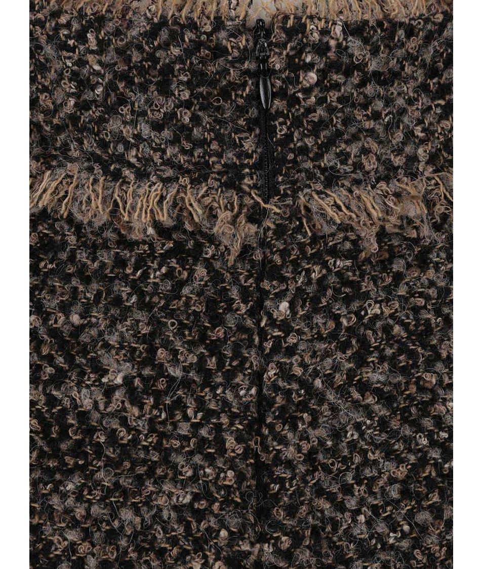 Béžovo-černé žíhané culottes Pietro Filipi