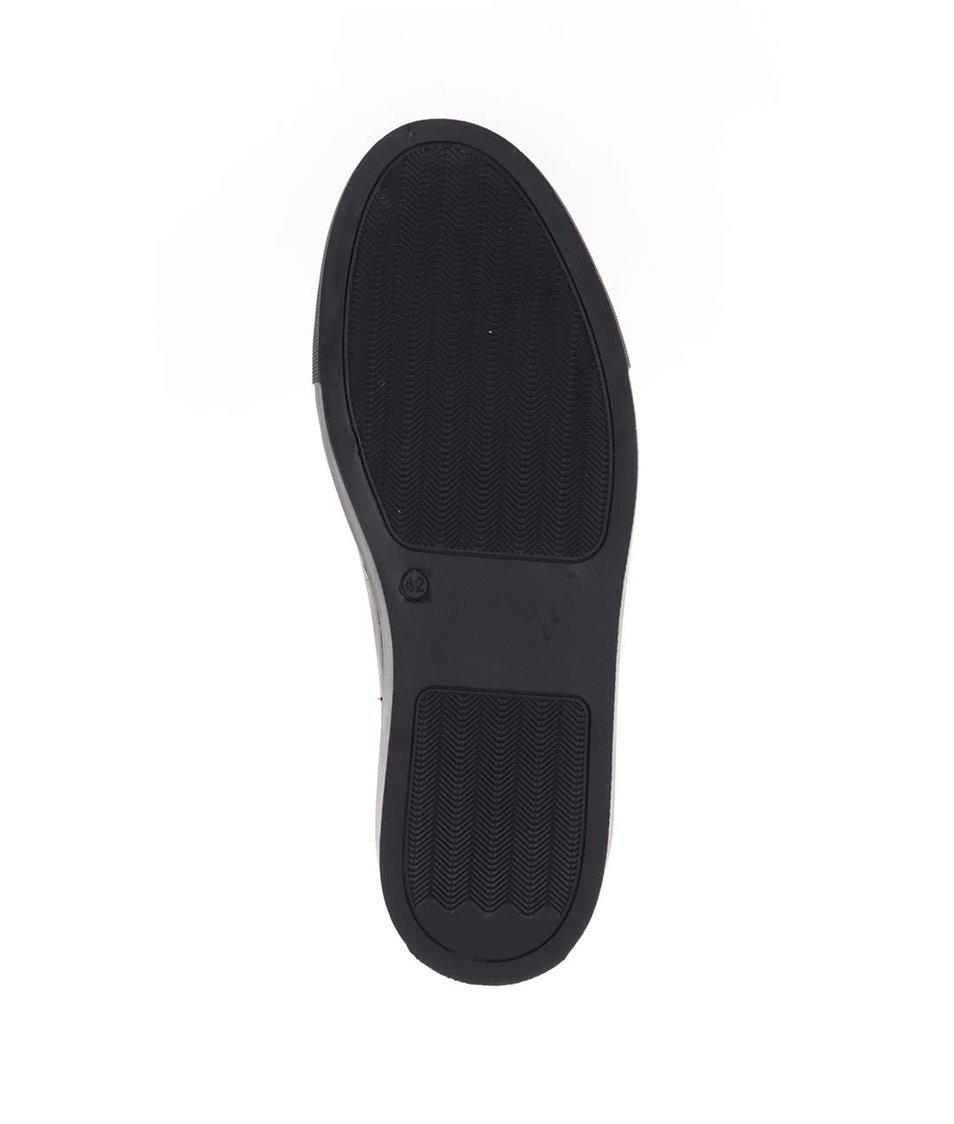Černé pánské kožené tenisky OJJU