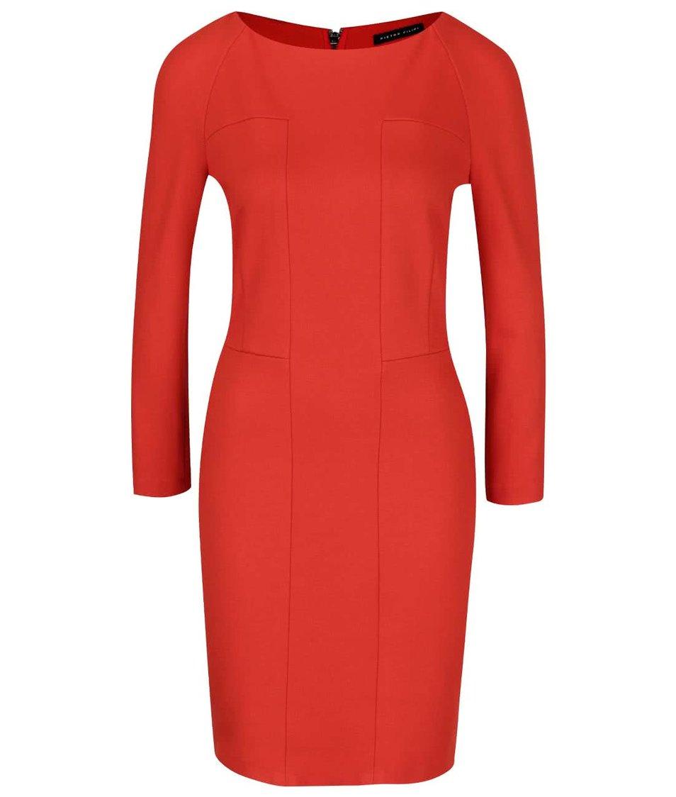 Červené pouzdrové šaty  Pietro Filipi