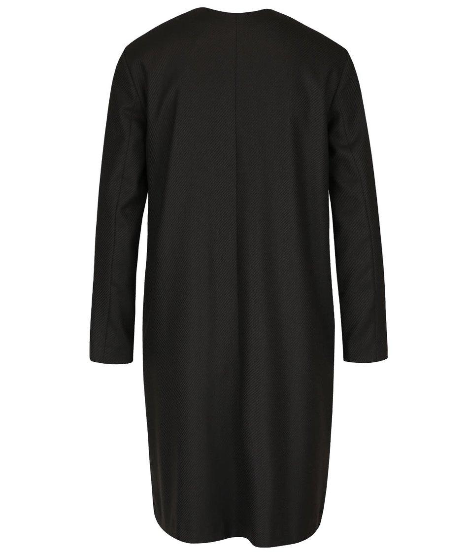 Černo-hnědé šaty s detaily ve zlaté barvě Pietro Filipi