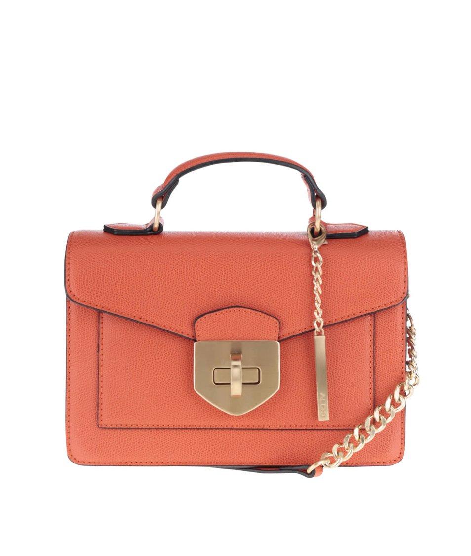 Oranžová menší crossbody kabelka s detaily ve zlaté barvě ALDO Astirwen