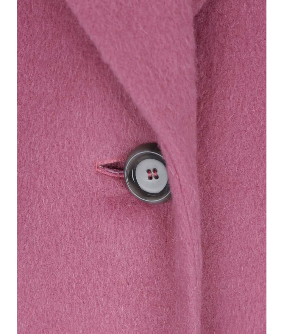 90394529d8 Růžový dámský vlněný kabát Pietro Filipi - SLEVA!