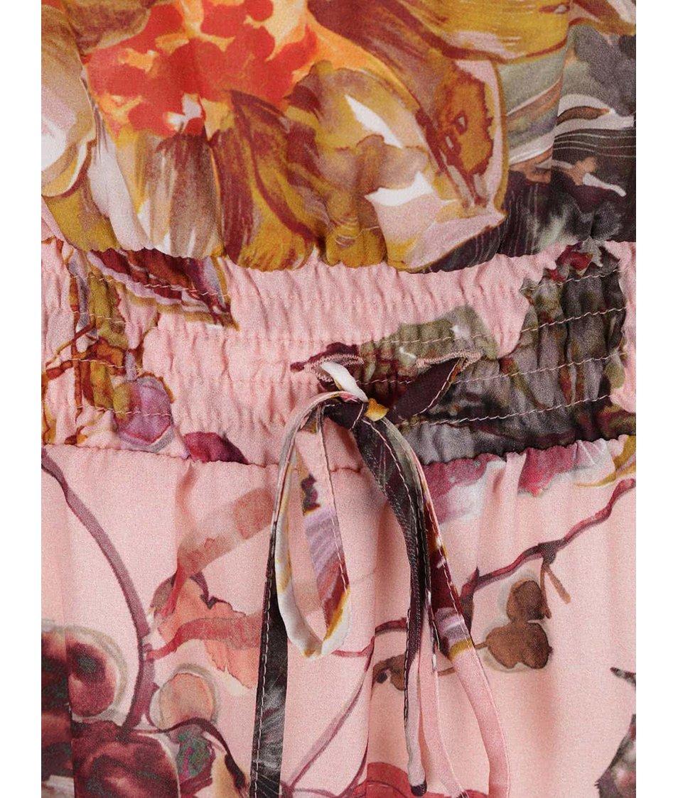 Růžové šaty s květovaným vzorem Pietro Filipi