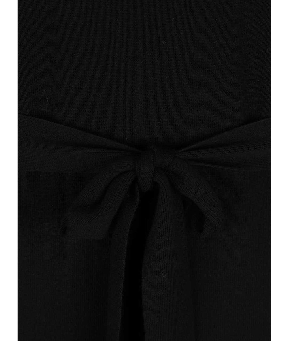 Černé svetrové šaty s rolákem Pietro Filipi