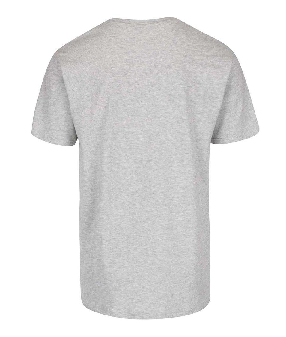 Světle šedé žíhané basic triko ONLY & SONS Eltonn