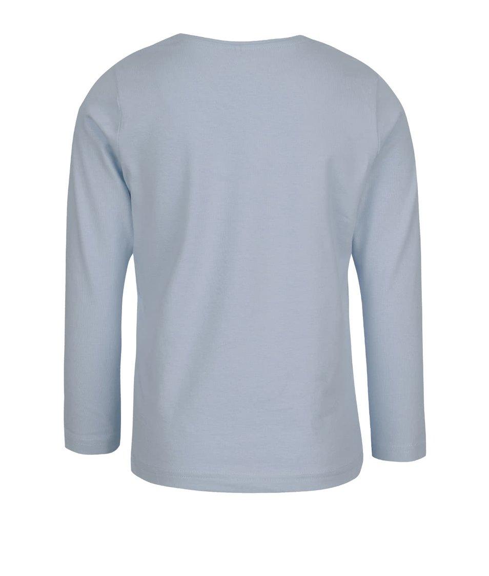 Světle modré klučičí triko s potiskem a dlouhým rukávem name it Victor
