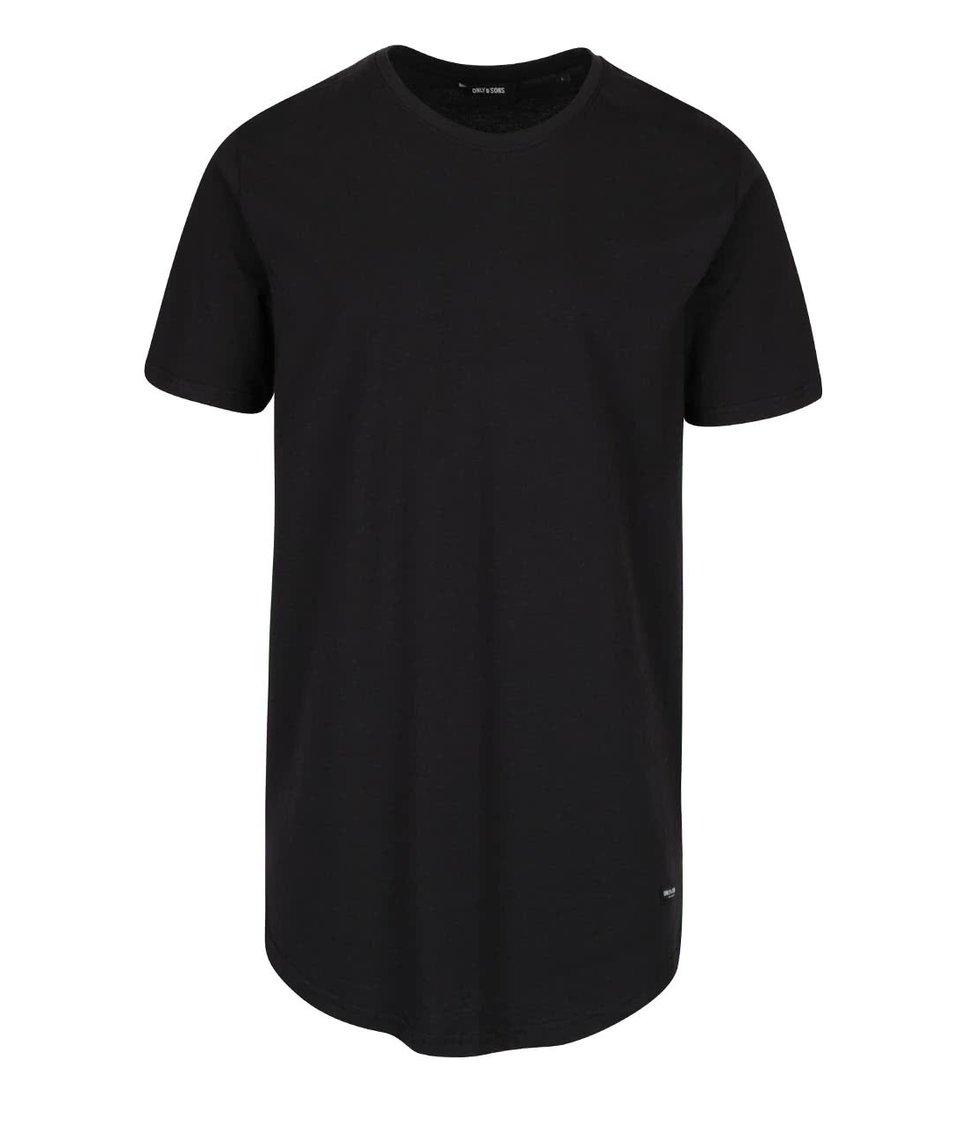 Černé dlouhé triko ONLY & SONS Super Long