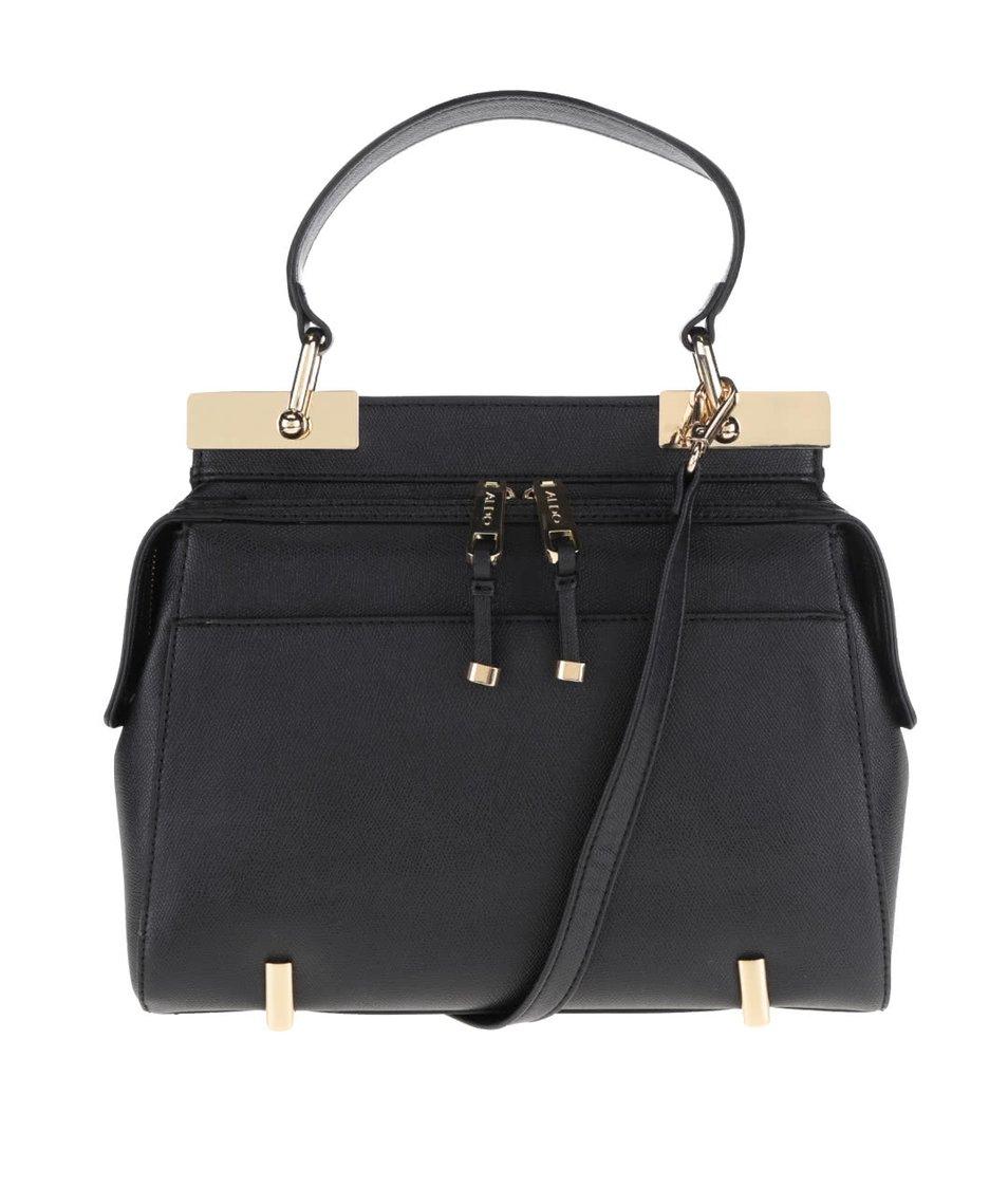 Černá kabelka na zip s detaily ve zlaté barvě ALDO Honeyberry