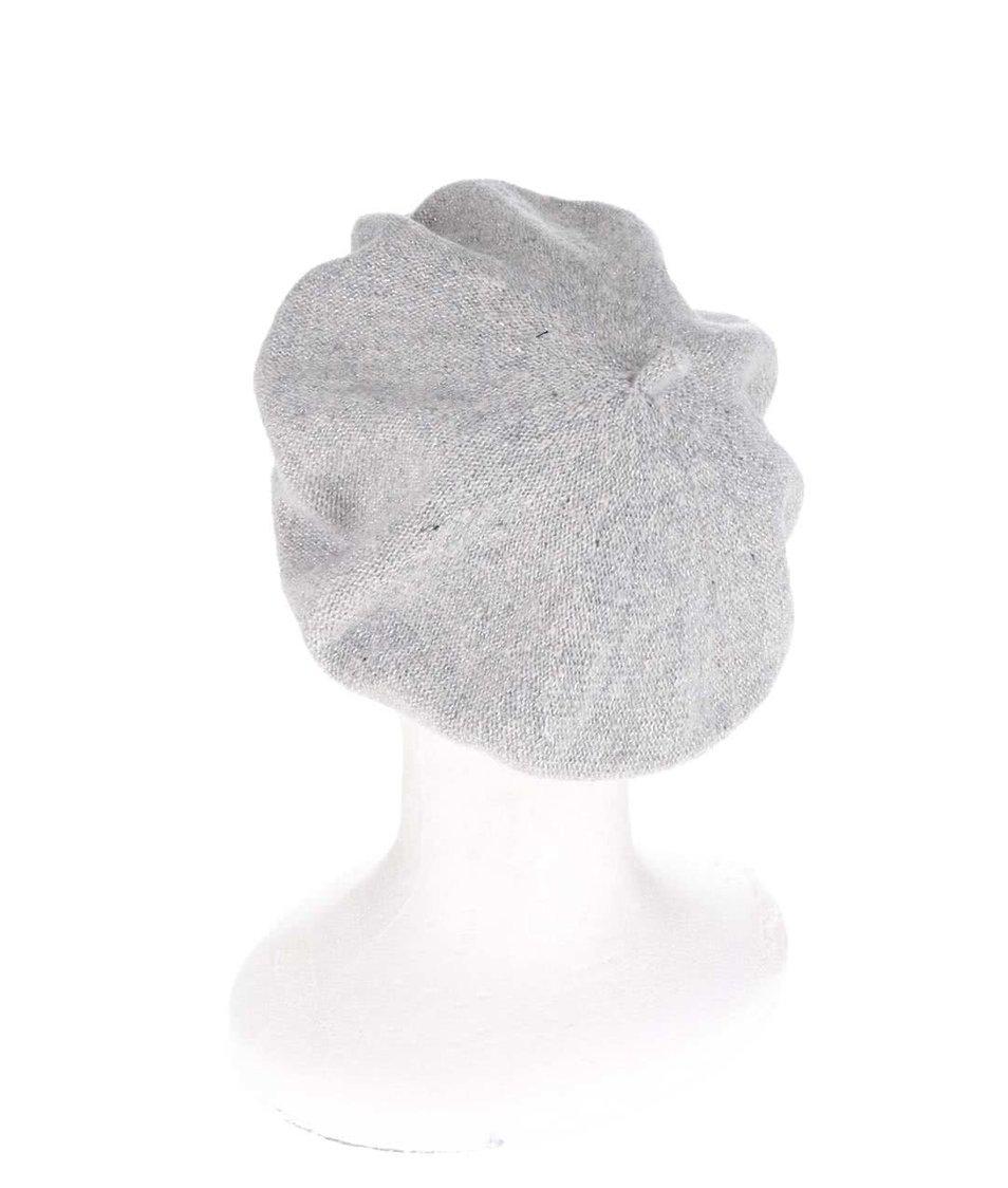 Šedá žíhaná dámská vlněná čepice Pietro Filipi