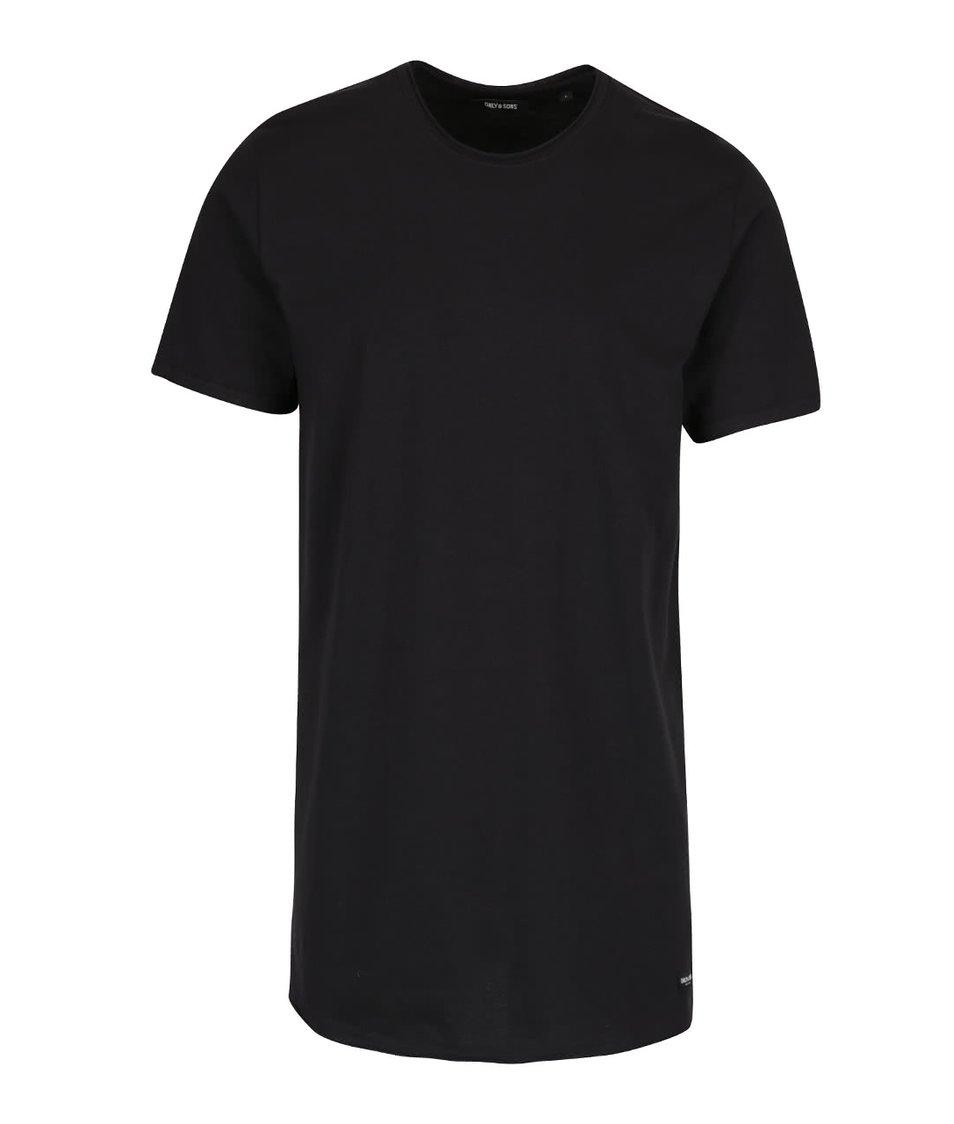 Černé delší triko ONLY & SONS Long
