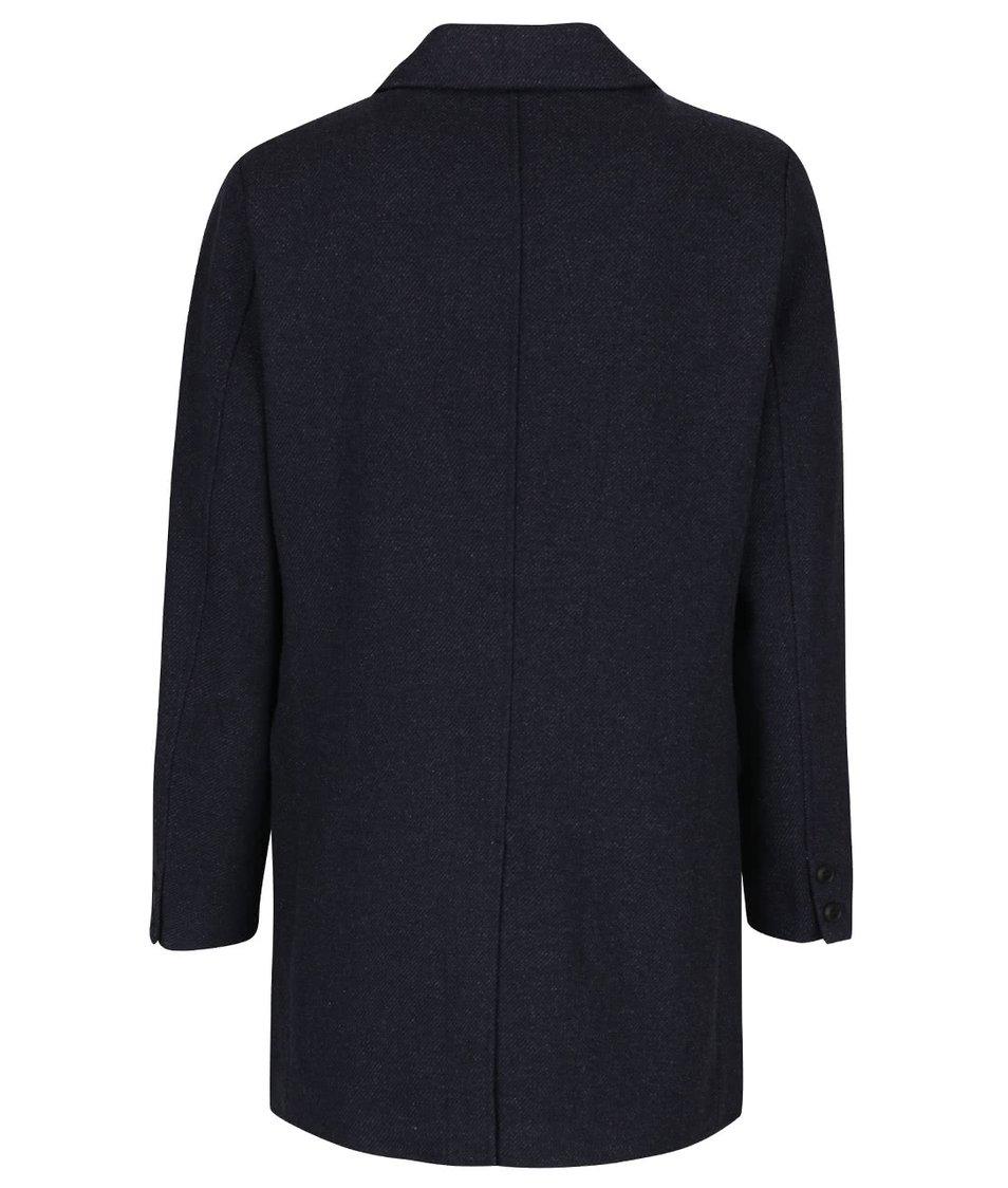 Tmavě modrý vlněný kabát ONLY & SONS Otto