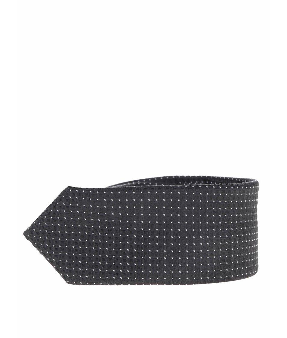 Černá klučičí kravata s jemným prošívaným vzorem name it Pisp