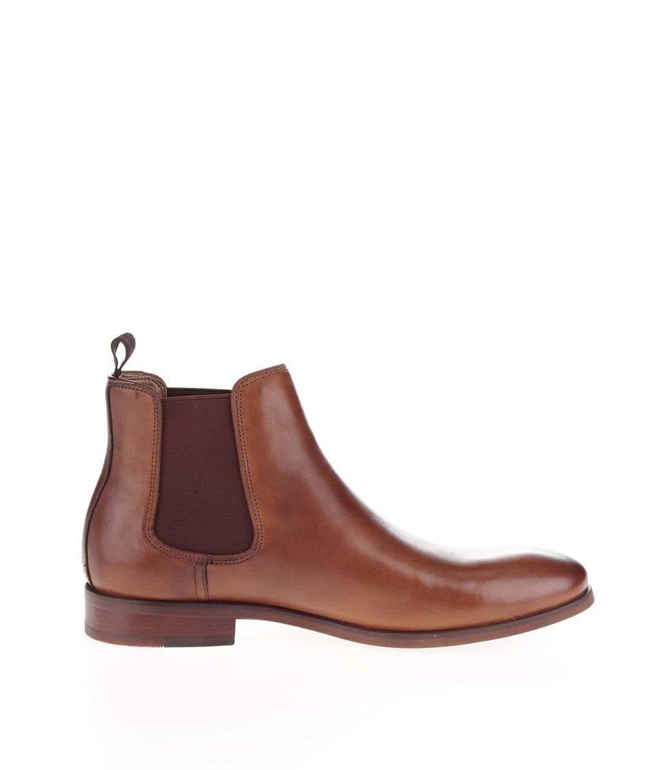 Hnědé pánské kožené chelsea boty ALDO Croaven
