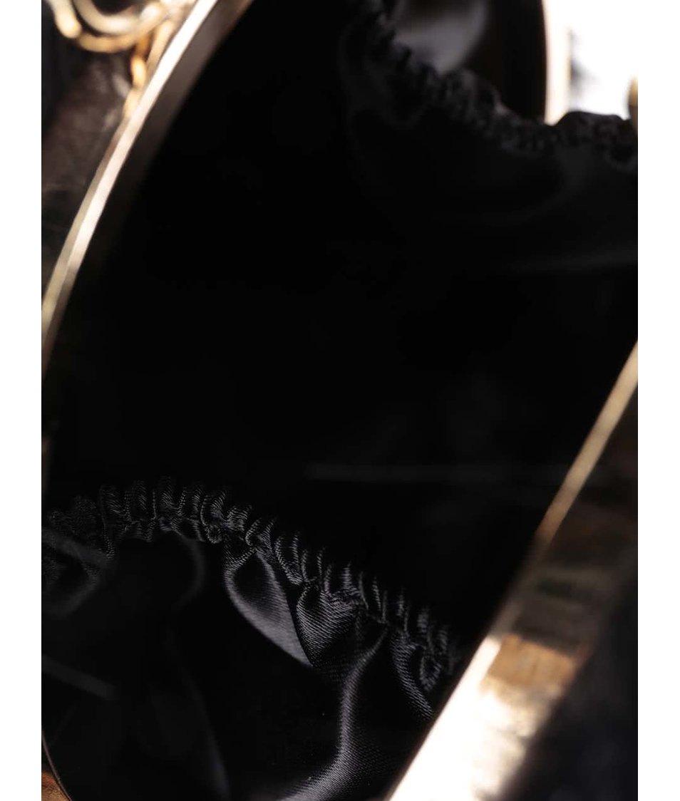 Černá malá kulovitá kabelka s detaily ve zlaté barvě ALDO Montirone